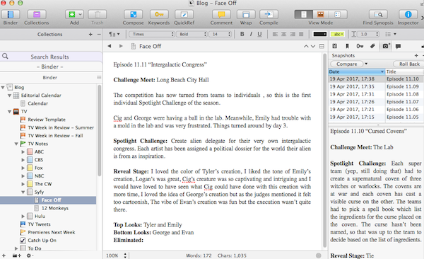 Writer's Block Party: How to Use Scrivener As A Writer Who Blogs